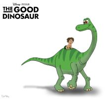 The Good Dinosaur: Arlo and Spot by TrefRex