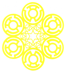 Sinestro Corps Flake by ChimeraDragonfang