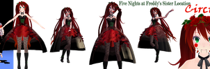 MMD - FNaF Sister Location - Circus Baby - DL by JELSA-fan-MMD