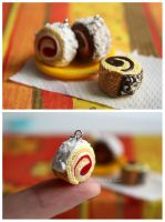 Roll cake Charms by thinkpastel