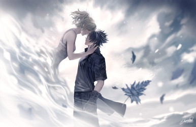 FFXV - Noctis and Lunafreya by Shumijin