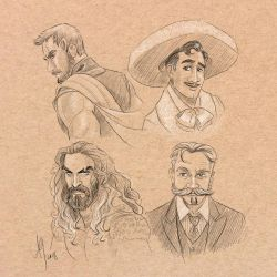 Movie Mustaches by kuabci