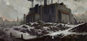 Abandoned Oil Reeferinery by AlexKonstad