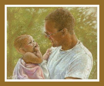 Daddy and Daughter by Qiu-Ling