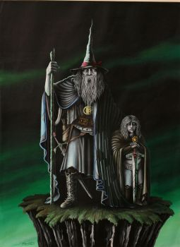 Gandalf and Frodo by grimleyfiendish