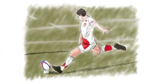 Rugby Player by RobynSmaleBeorg