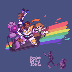 Paladins Escape with Fun Rainbow by dodobirdsong