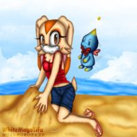 Cream at the beach 2011 by WhiteMageTifa