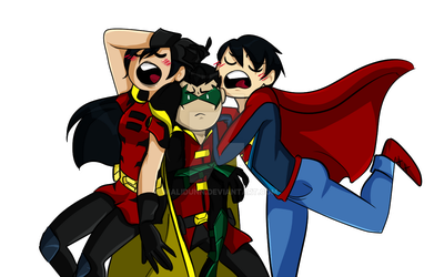 The super sons (and daughter) by Malidunn