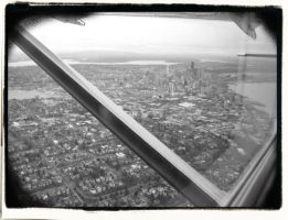 Flights Over Seattle by 7IronCrosses