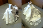 Miniature art dress for my mother :) by fuzzybeargirl