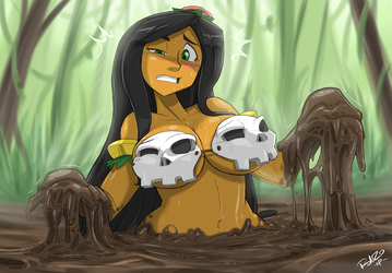 Dethmetal Comm: HULA-GIRL in Quicksand 3 by ShoNuff44