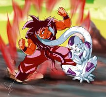 DBZ Goku And Freezer by Sersiso