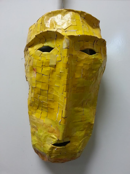 Paper Mache Mast - Celtic Burial Mask by HISWORK