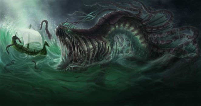 Water Colossus by SaraLynArt