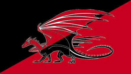 Draconic Anarchist Flag by TheCommunistDragon