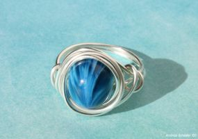 Blue Wrap Ring by Ipine4you