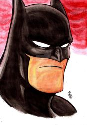 Bat Bust Water Color by nic011