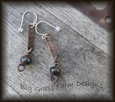 Lampwork Bead Earrings by bgfdesigns