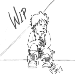 Toddler Edward Scissorhands by QueenNothing20