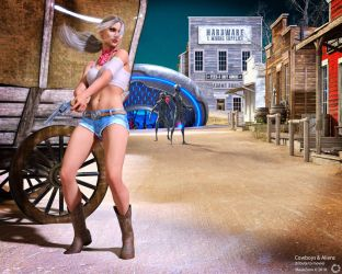 Cowboys and Aliens by maukzone