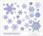 Snowflake Brushes 1 by VanillaOrchids