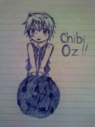 Chibi Oz with cookie by candy-spazz-tabby