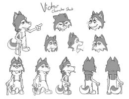 'Victor' Character Sheet by captainslam