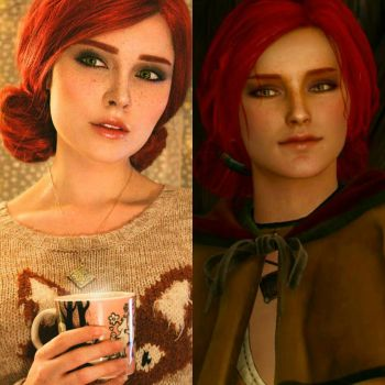 Triss Merigold comparision by Sladkoslava  by Sladkoslava