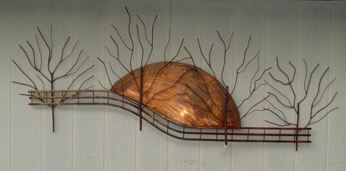 Contemporary Sunset and Trees by GreatLakesMetalWorks