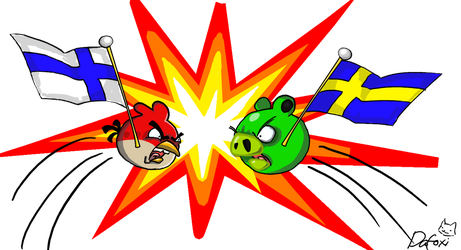 Angry Birds-Finland vs Sweden by Dafoxi-Tohvel