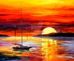 Golden Gate Bridge By The Sunset by Leonid Afremov by Leonidafremov