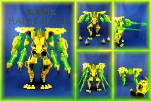 Bionicle MOC: Slizen and the M.A.I.M.E Frame by Mana-Ramp-Matoran
