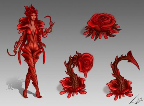 Zyra new skin Bloody Rose by Tonig2