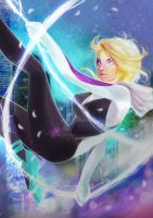 Spider-Gwen in to the SpiderVerse by BagusTriCahyono
