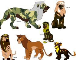 Male Cubs and Adults Lion Adoptables -OPEN- by KovuTheLionKing