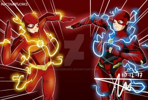 The Flash Of Two Worlds by MacinDraws