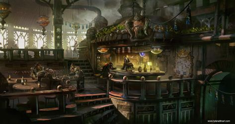 Krodan Mess Hall by TylerEdlinArt