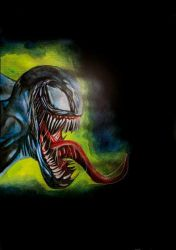 Venom-watercolor and airbrush by simon-artist