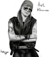 Axl Rose digital portrait by babisZArt