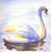 Swan - water colour by ThatJemmaGirlDraws