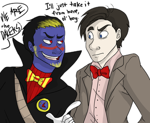 Hot British Timelords with Bowties by NEOmi-triX
