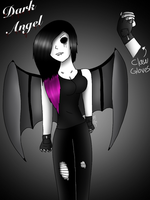 Dark angel  by Pinkwolfly
