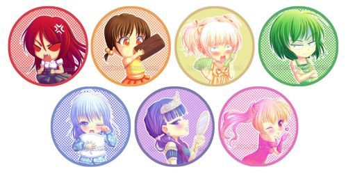 The Seven Deadly Chibis by Tetiel