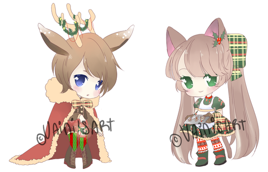 Christmas adoptables{closed} by VainisArt
