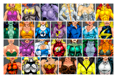 Superheroine ABC's ! by twogargs