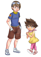 Tai and Kari Digimon TG Ageswap by Rezuban
