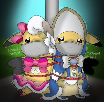 Two Ladys In A Pole by soupcanz
