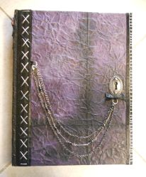 Purple Stitched Sketchbook by Celestie13