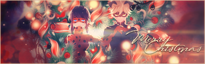Ladybug and Chat Noire [Christmas request] by Lake90